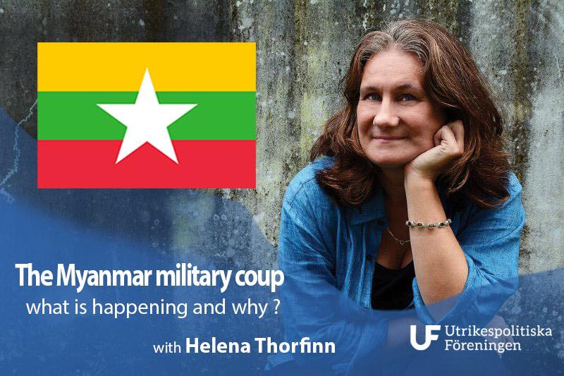 Evening Lecture: The Myanmar military coup - what is happening and why?