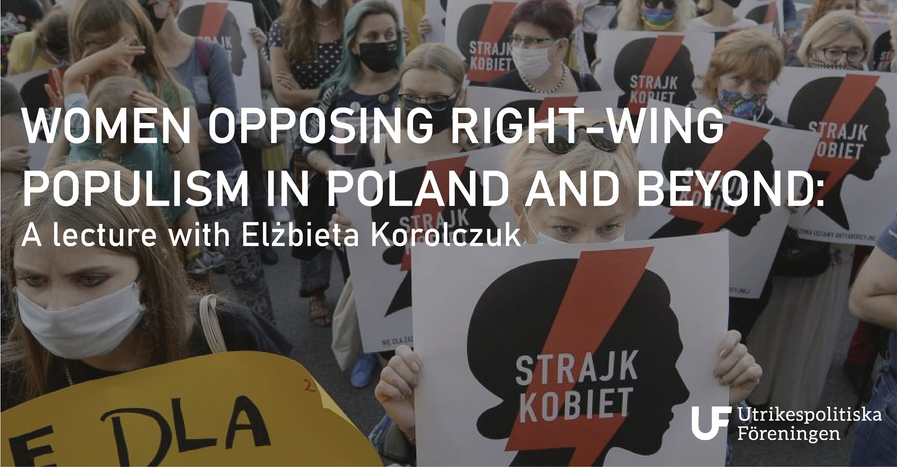 Evening Lecture: Women Opposing Right-Wing Populism in Poland and Beyond